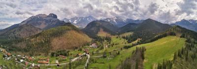 Весна. Дорога через Татры Апрель Весна Горы Дронофото Европа Словакия Татры
