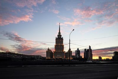 Московский вечер Москва вечер город
