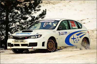 Winter Rally '09 Utena Subaru winter rally utena lithuania sport