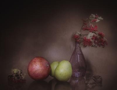 Калина с фруктами