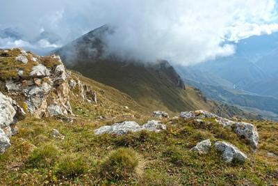 Где-то в облаке Кавказ Столовая гора Ингушетия