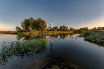 До свидания, лето... река устье шиголость волга церковь диево городище камыши