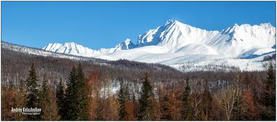 Просто приятная и хорошая панорама горы снег солнце