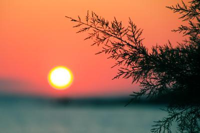 Закат закат солнце море