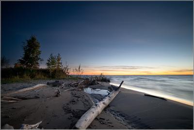 вечерний свет остров Хреновый Обское море Новосибирск закат вечер Андрей Стыврин