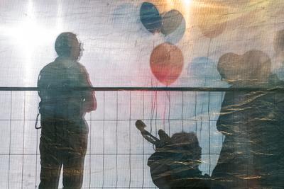 День Независимости в Израиле Силуэты воздушные шары коляска