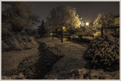 Вечерний снегопад