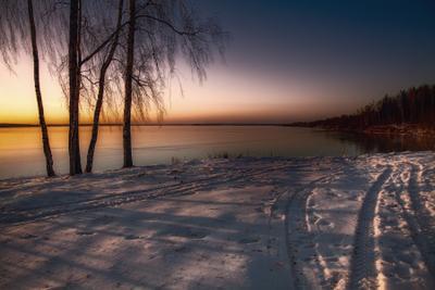 Зимним вечером зима