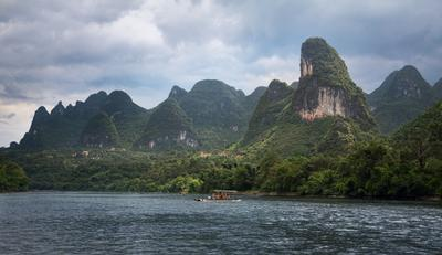 Китай. Река Ли в Гуйлине