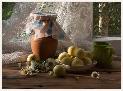 Летняя, утренняя лето, утро, ромашки