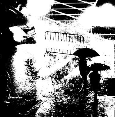 Переход дождь темно улица машины свет фар неуютно