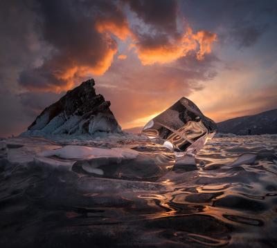 Хрустальный Байкал Baikal island Siberia Байкал остров Сибирь лед ice