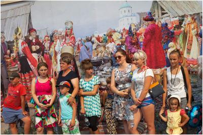 Картина маслом Бурятия Тарбагатай старообрядцы семейские