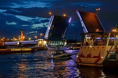 Ночной Санкт-Петербург ночной пейзаж город мост разведение мостов