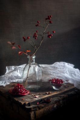 Осенние нотки осень боярышник натюрморт гранат аромат осени красный цвет вдохновение