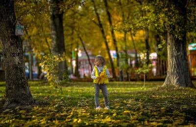 Маленькая Осень..... Осень парк отдых семья дети природа