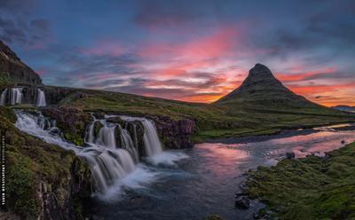 ~~~ Kirkjufell ~~~ Исландия гора Киркьюфетль закат рассвет Iceland mountain Kirkjufell sunset aurora vakomin