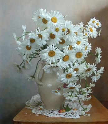 Ромашки нежные создания Натюрморт ромашки лето букет цветов