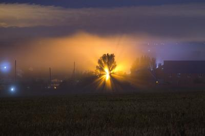 Ночной туман.