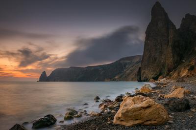 Скалы Фиолента Севастополь Фиолент Крым скалы море горы природа закат небо камни берег