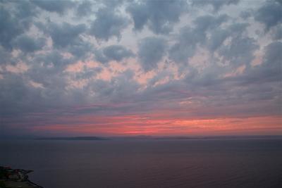 Августовский вечер Владивосток Амурский залив Август вечер облака