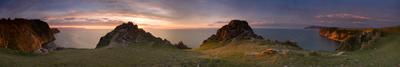 И целого Байкала мне мало . . .  озеро Байкал остров Ольхон скалистый берег Lenchik&Fanizzz мыс левый Шунтэ скала камни берег рассвет небо