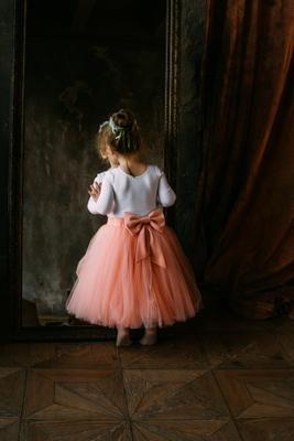Юная балерина Девочка ребенок балет дети портрет студия