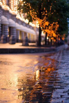 *** Москва дождь огни