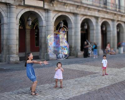 Пузыри  дети мыльные пузыри