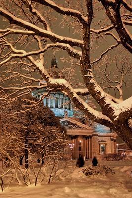***зимняя мистерия*** Исаакиевский собор Санкт-Петербург зима вечер