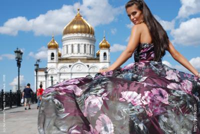 *** москва  мост  кремль  набережная  река  храм христа спасителя