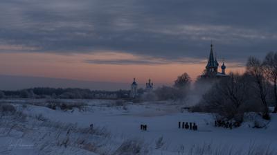 Мартовское утро март утро рассвет дунилово река теза