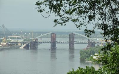Днепр вода место отдых мост