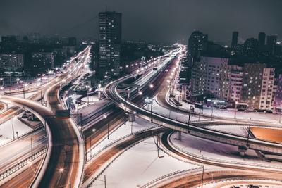 Краски и огни ночной Москвы Москва
