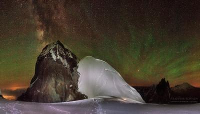 Магия ночи... Кавказ Ушба альпинизм горы Эльбрус