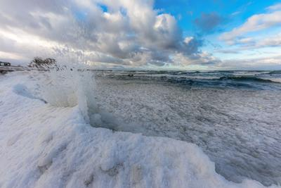 Зимние причуды Балтики берег зима