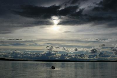 ...на Волге Волга вечер небо природа