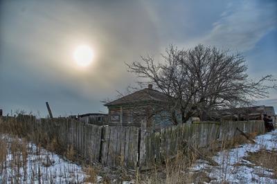 *** солнце хата закат развалины музей казаки станица