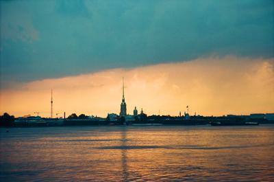 Right after thunderstorm Санкт-Петербург гроза пленка небо Нева