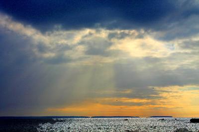 Занавес Бога Октябрь осень озеро