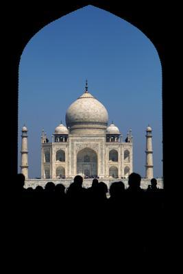 Tadj India Tadj Mahal Agra Crowd