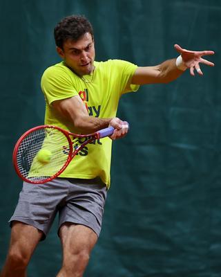 Practice... tennis big moscow Karatsev russia racket ball court Alextennis