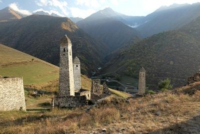Башенный комплекс Эрзи в Ингушетии Кавказ Ингушетия Эрзи