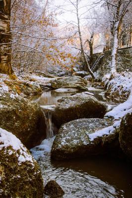 Зимняя река... Река зима поток солнце свет течение движение