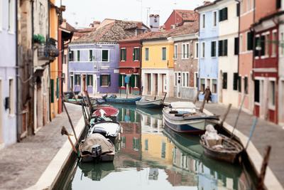 Winter@Burano. Venice, Italy, Burano, canal, street, city