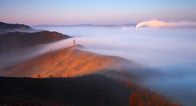 Хребет карабаш южный урал осень туман
