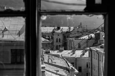 Городской пейзаж Крыши Питер Окно