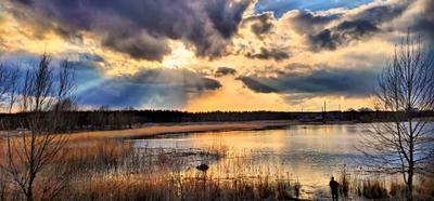 Мартовское озеро...