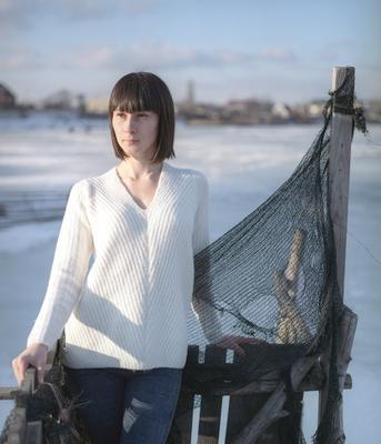 *** девушка модель зима свет пленка film 6x7 pentax 67 6 7