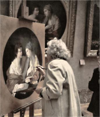 *Лувр. У источника Вдохновения* фотография путешествие Франция музей Лувр художник жанр Фото.Сайт Светлана Мамакина Lihgra Adventure